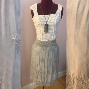Lovely pale gray silk skirt